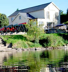 Situated on the banks of the River Wye at Glasbury Bridge is The River Café, Glasbury-on-wye, Hereford