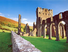 Llanthony Priory is a picturesque, partly ruined former Augustinian priory in the beautiful and secluded Vale of Ewyas