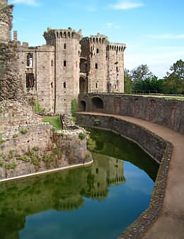 Raglan Castle in Monmouthshire