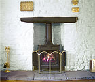 llwyn iago farmhouse fireplace